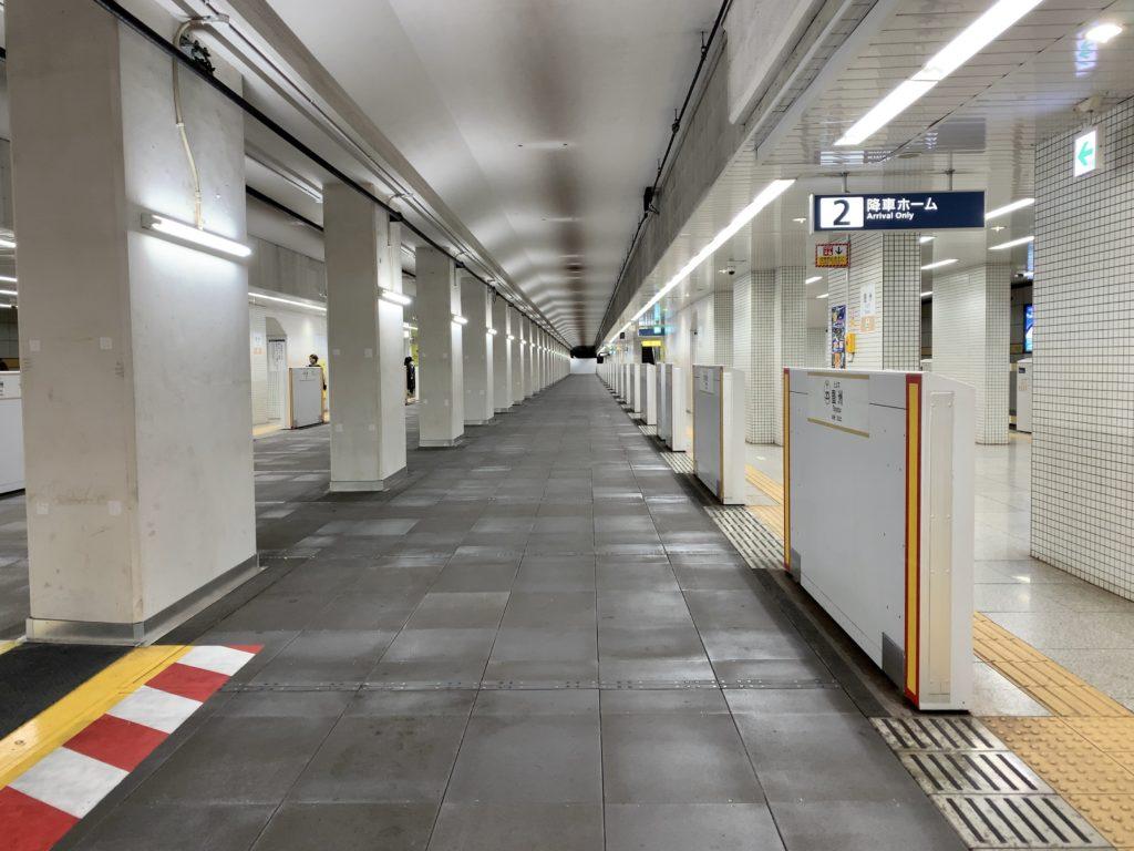 有楽町線豊洲駅ホームからの眺め
